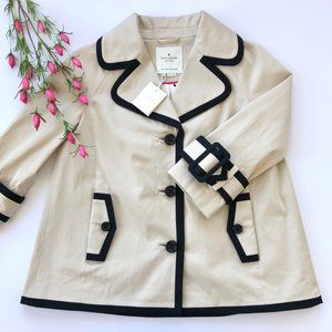 Kate Spade NWOT Topliner Short Trench Coat Jacket
